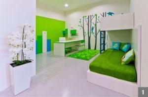 Dětský pokoj s dvoupatrovou postelí