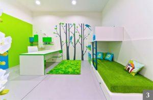 Moderní dětský pokoj s dvoupatrovou postelí