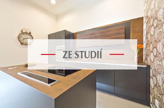 Kuchyně vystavěné ve studiích firmy Válek & Kačena v Olomouci a Ostravě