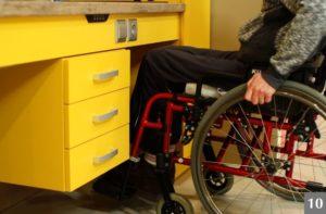 Kuchyně navržená pro potřeby vozíčkářů