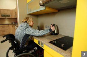 Kuchyň přizpůsobená pro vozíčkáře