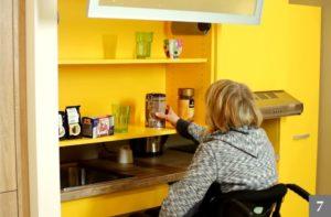 Kuchyně na míru přizpůsobené pro vozíčkáře